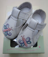Start Rite Baby's First Shoes - Flutter - White Leather with Butterfly Design