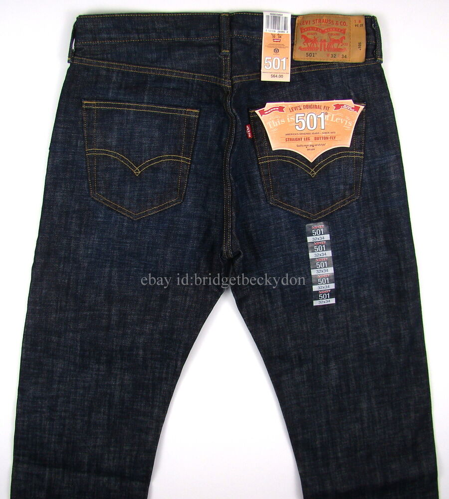 Levis 501 Jeans New Original Mens TIDAL BLUE - MANY SIZES ...