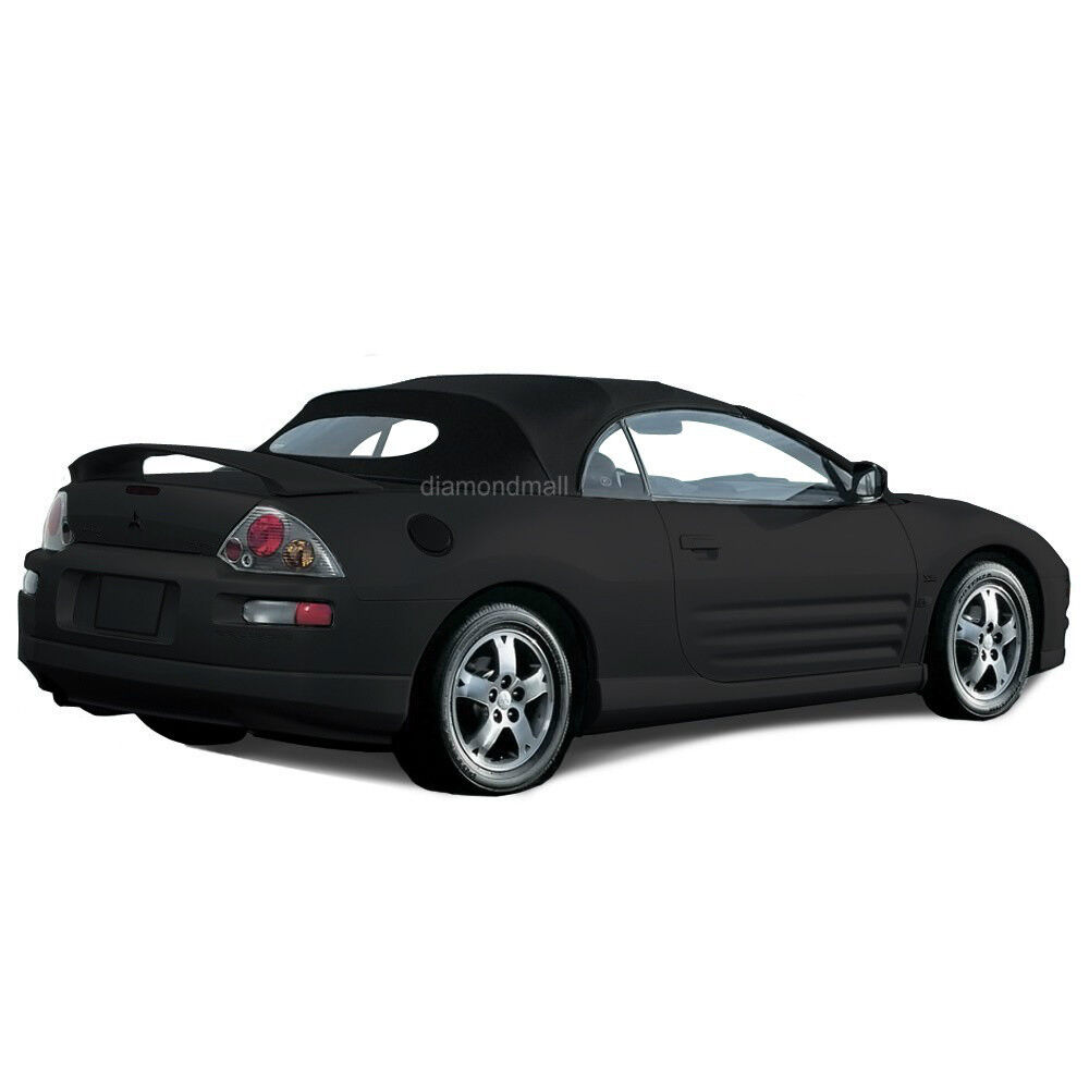 mitsubishi eclipse 2000 2005 convertible soft top glass window black stayfast ebay. Black Bedroom Furniture Sets. Home Design Ideas