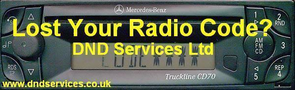 mercedes benz radio code decode unlock truckline cd70