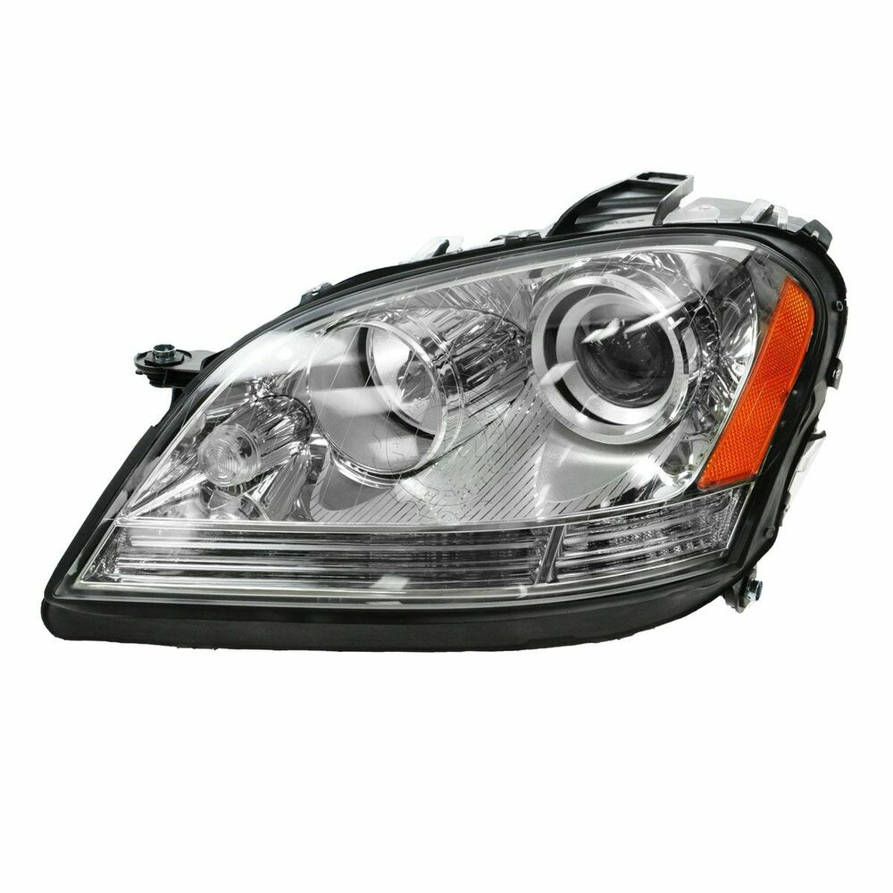 Headlight headlamp driver side left lh new for mercedes for Mercedes benz headlight bulb