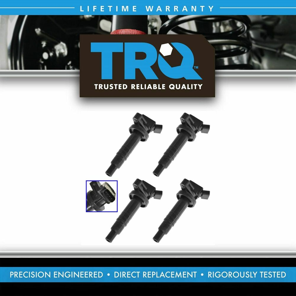 Ignition Coils Kit Set Of 4 New For Toyota Chevy Pontiac 1