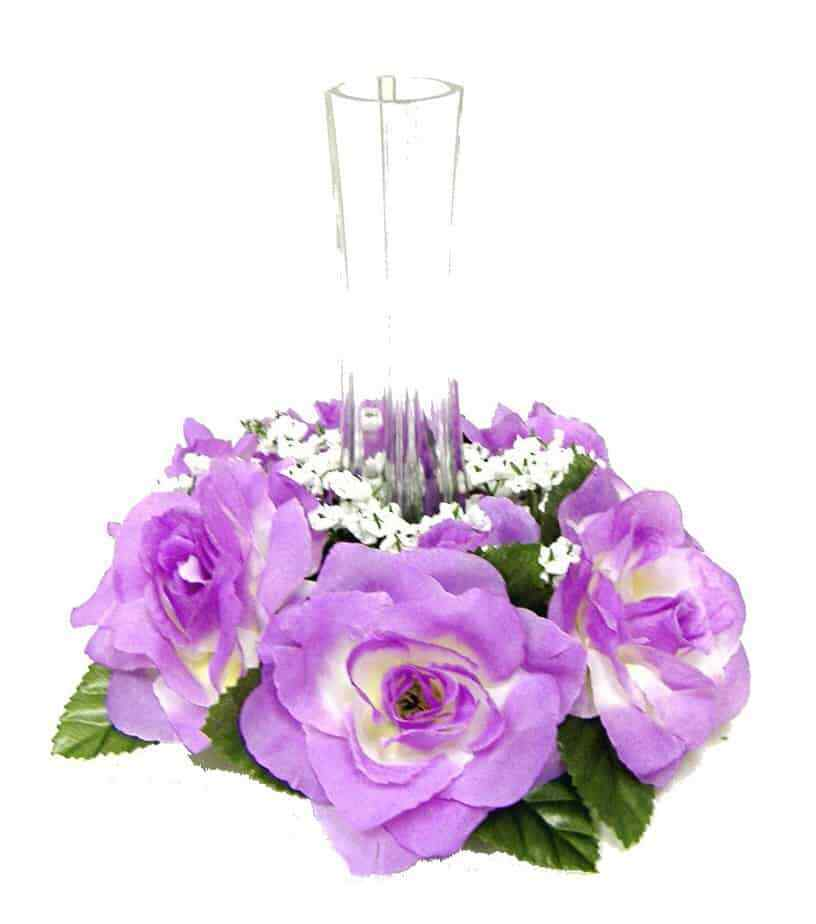 Roses Candle Ring LAVENDER Wedding Centerpieces Silk