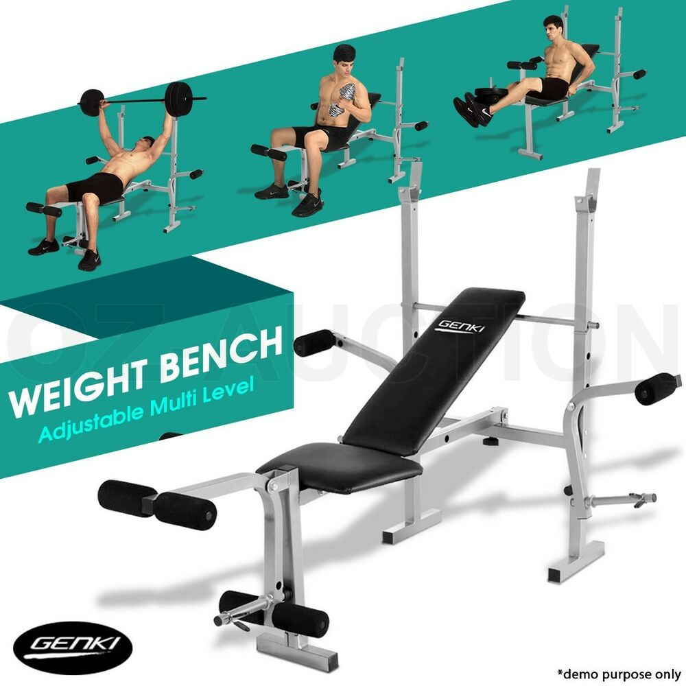 Weights Bench Multi Home Gym Equipment Dumbell Workout Abs: Genki Multi-Station Weight Bench Fitness Home Press Gym