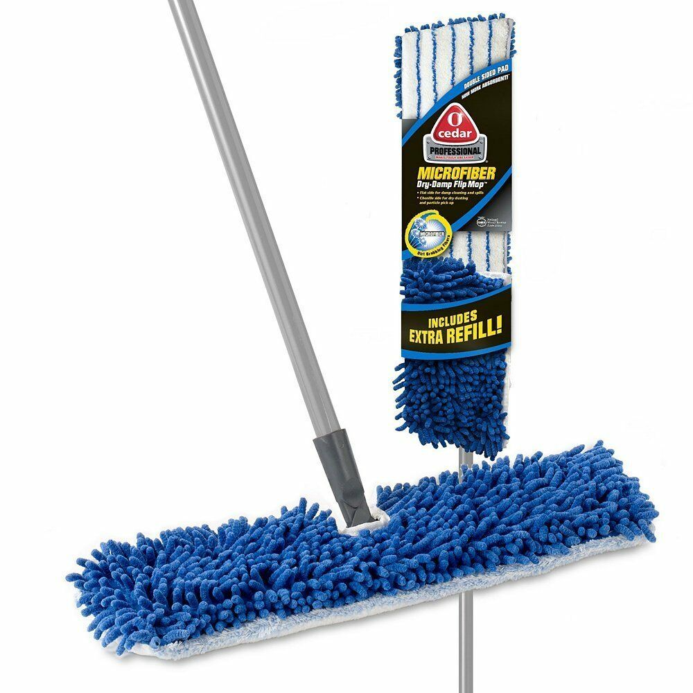 o cedar professional dual action microfiber flip mop with extra refill ebay. Black Bedroom Furniture Sets. Home Design Ideas