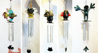 Metal alluminium windchime; top is in shape of fish/bee/cat/ lady bug/ frog, new
