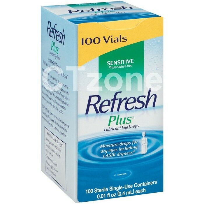 dry eye drops 100 refresh plus lubricant eye drops moisture lasik 12337