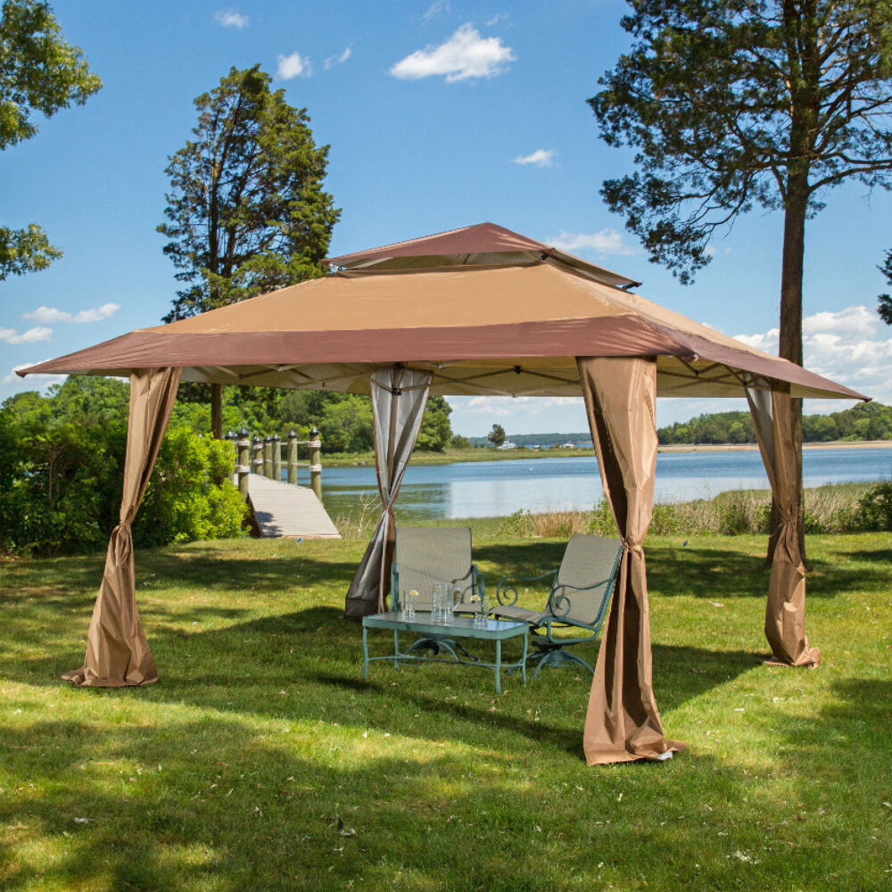 13 x 13 pop up gazebo patio outdoor canopy tent ebay. Black Bedroom Furniture Sets. Home Design Ideas