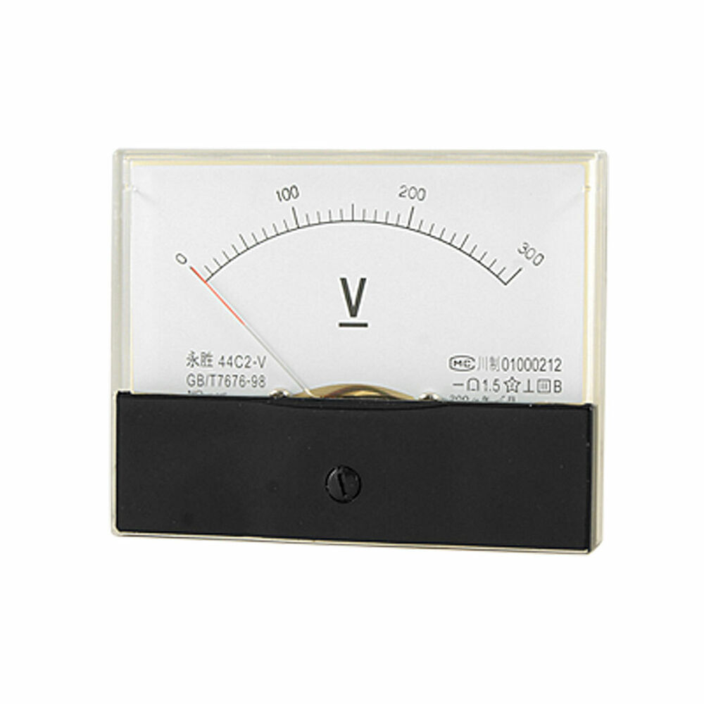 Volt Meters Panel Mount : Dc v rectangle panel voltage meter analog voltmeter ebay