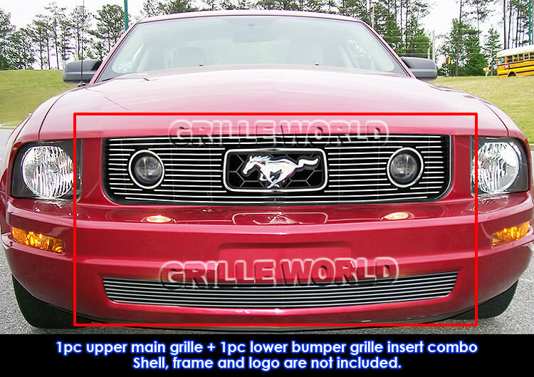 Pony Package Grille : Fits  ford mustang v pony package billet grille