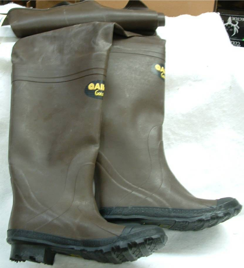Allen Bootfoot Rubber Hip Waders Model Wolf River Cleated