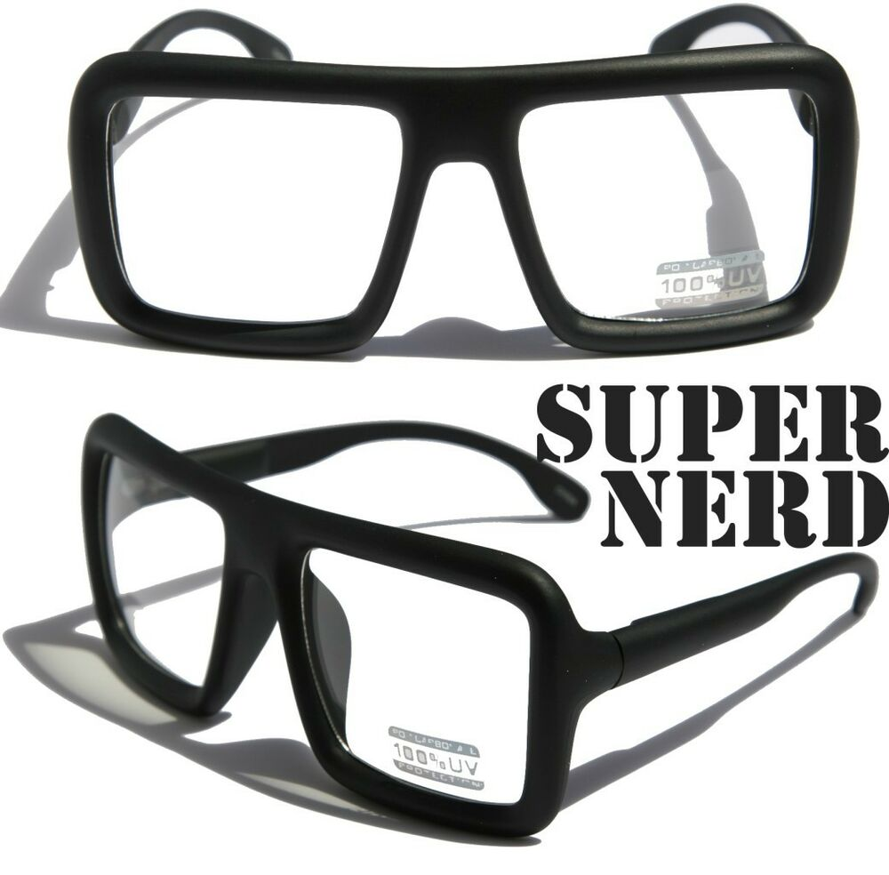 large retro nerd bold thick square frame classic eye glasses square spongebob ebay