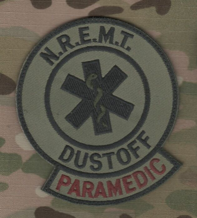 dustoff paramedic nremt national registry of emergency medical technician patch