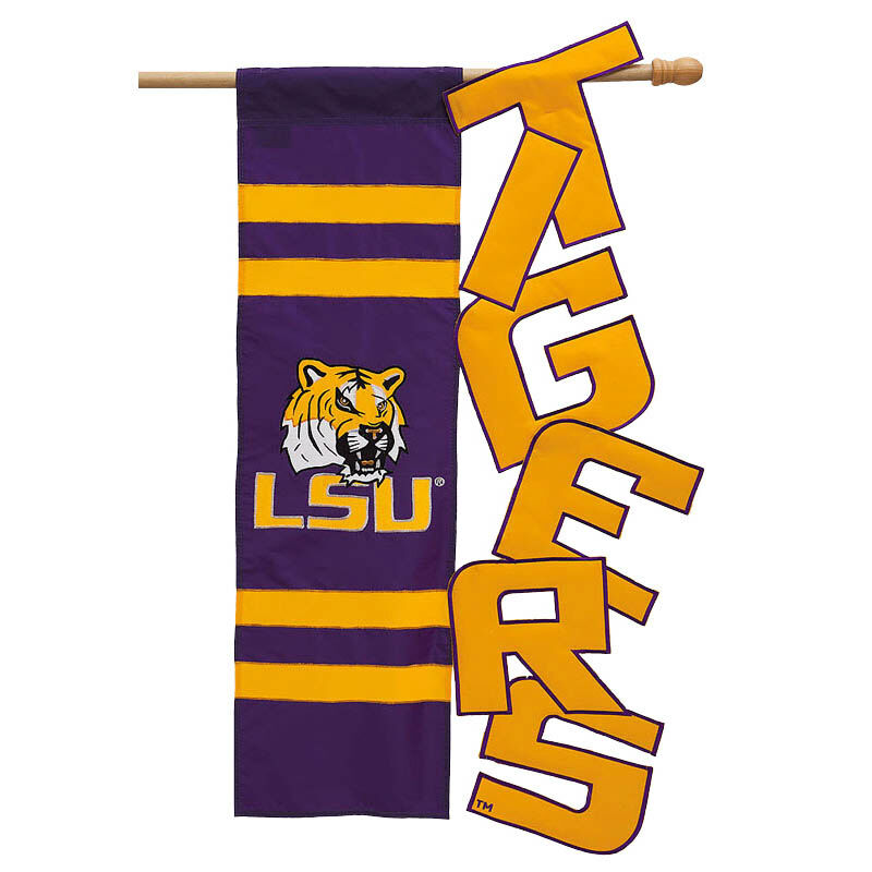 Lsu Louisiana State University Garden Flag Ncaa Licensed