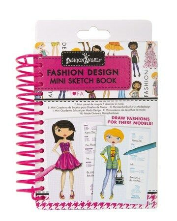 Fashion Angels Mini Sketch Book Portfolio Drawing And Clothes Design Pad New Ebay