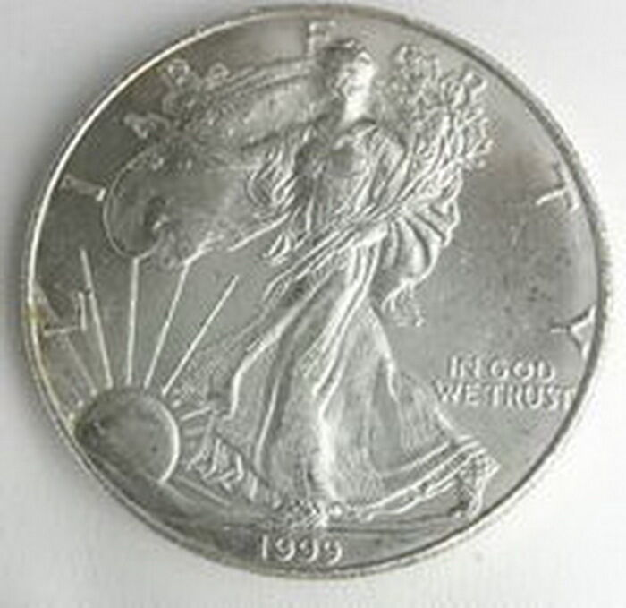 1999 Us Mint American Silver Eagle 1 Dollar Unc Coin Ebay
