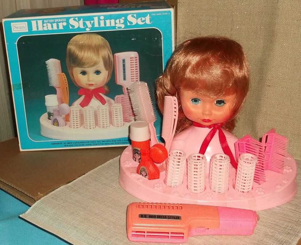 hair styling sets sears hair styling set vintage 1973 made in hong kong doll 1025