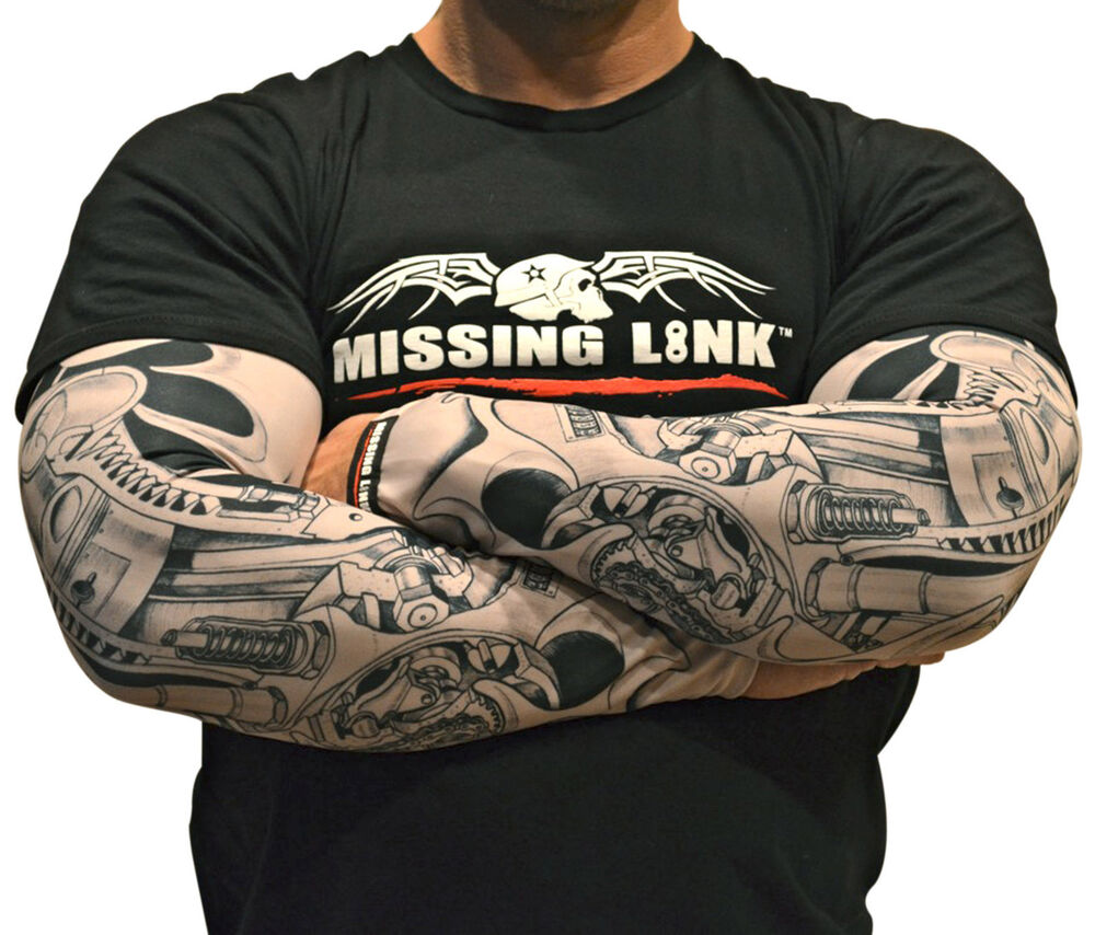 Missing link sleeve armpro biochanical me sleeves tattoo for Motorcycle tattoo sleeve