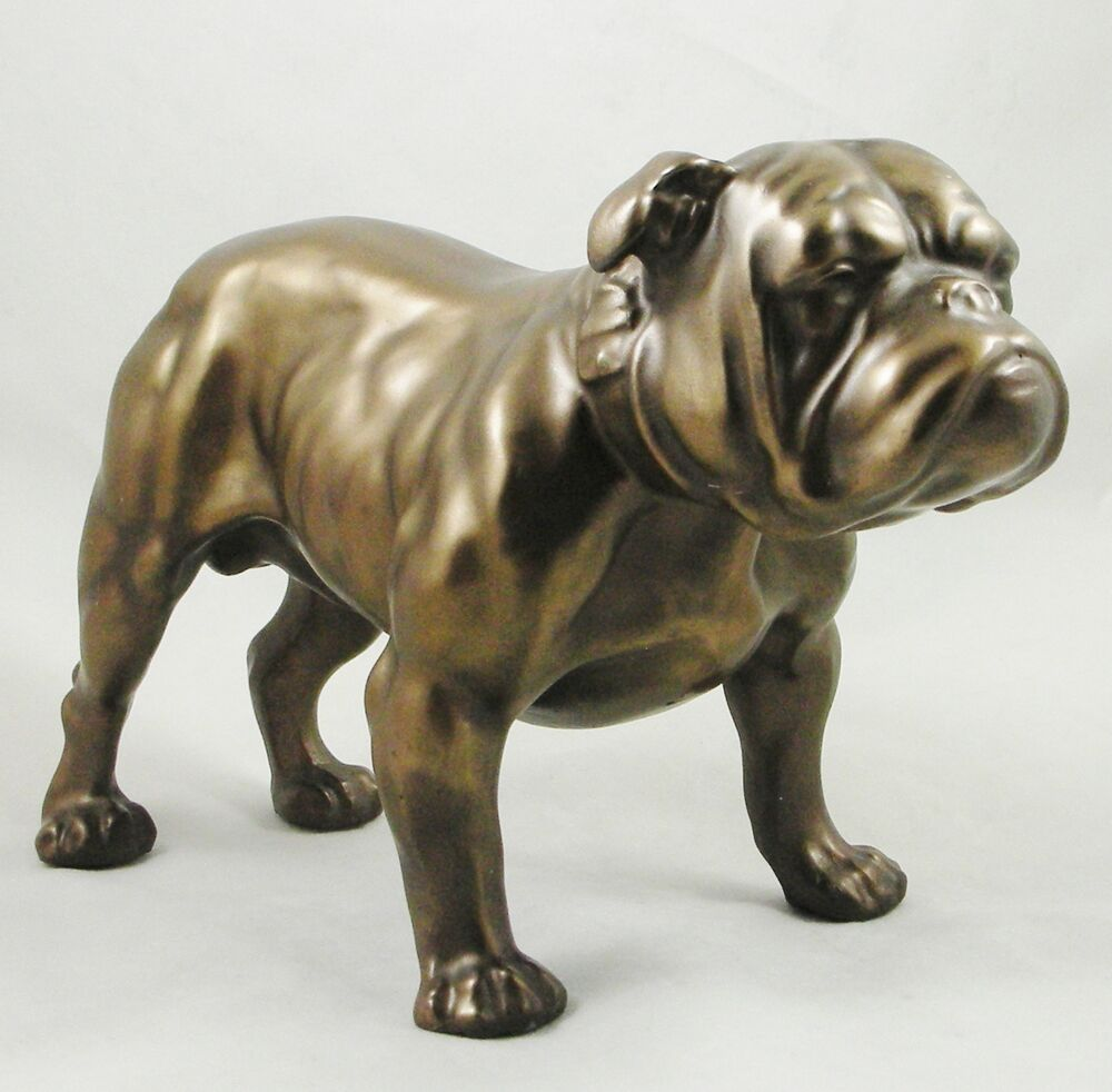 english bulldog figurine male british bulldog figurine bronzed statue english dog 7095
