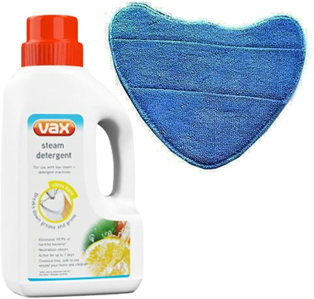 Vax Steam Detergent Solution Amp Microfibre Cleaning Pad For