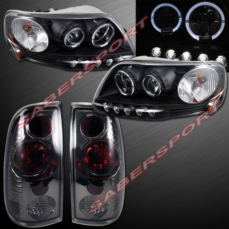 1997 8 2003 Ford F150 Halo Projector Headlights W Led
