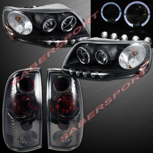 black-halo-projector-headlights-smoke-taillights-for-199782003-ford-f150
