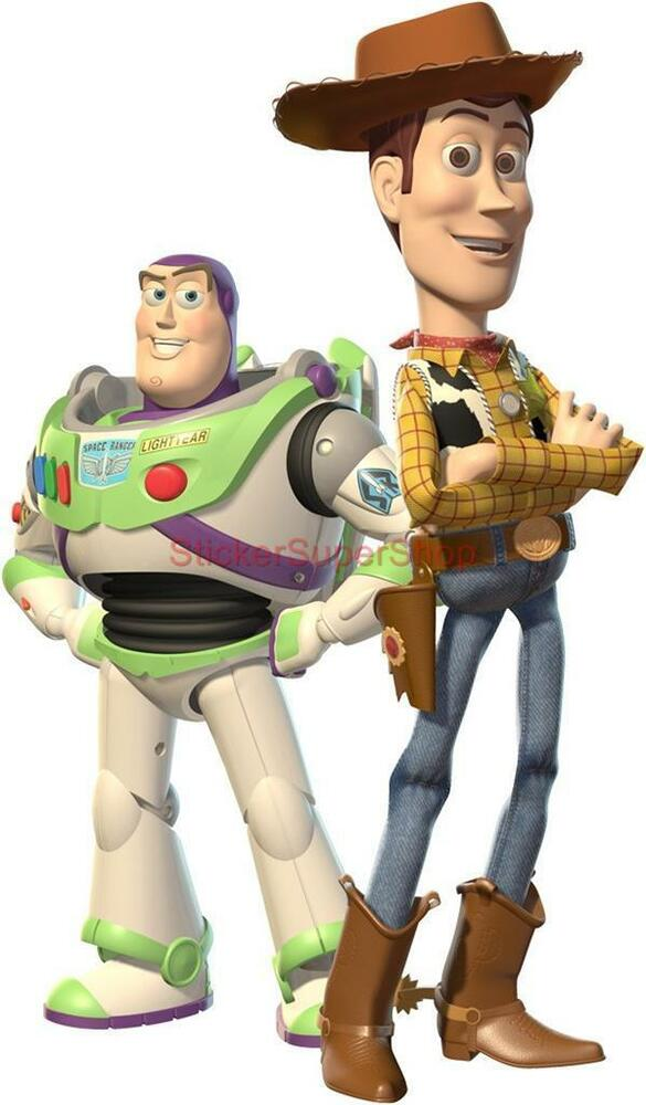 Choose size woody buzz toy story decal removable wall sticker decor art movie ebay - Cochon de toy story ...