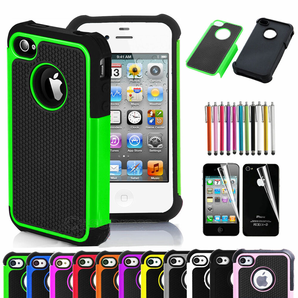 ebay iphone 4 case for iphone 4 4s black rugged rubber matte 14038