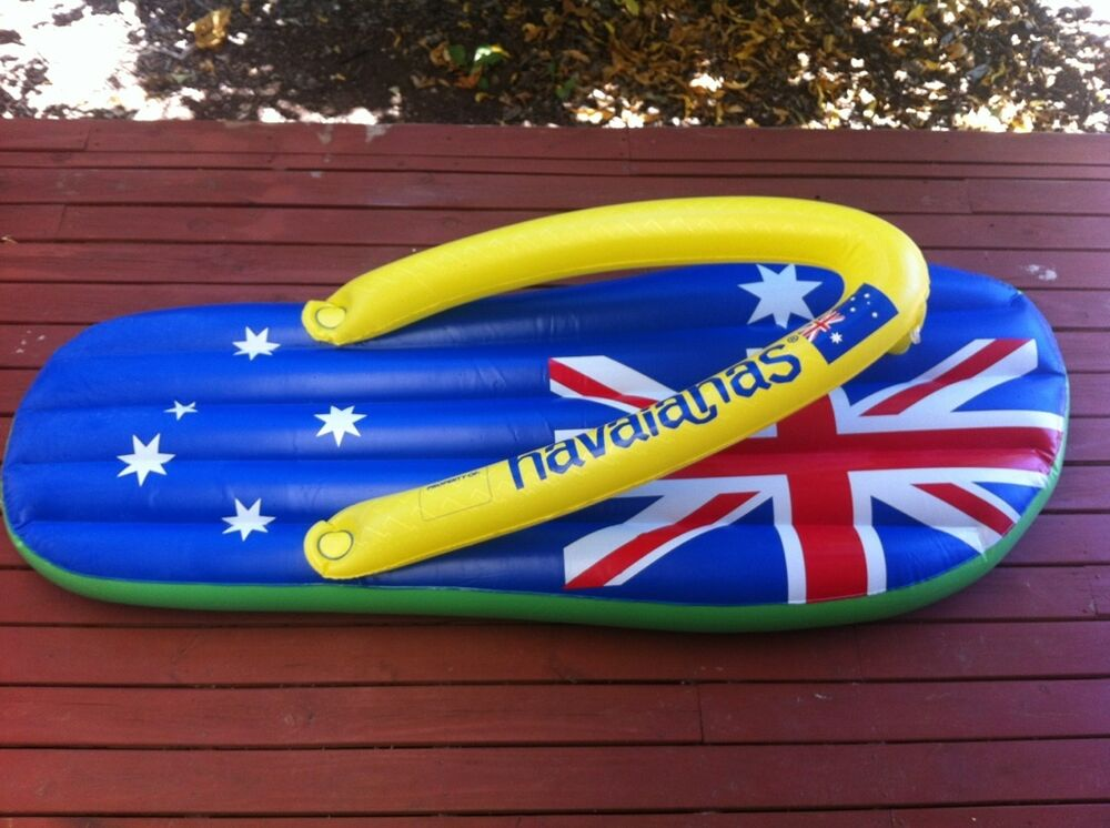 Australia Day 2013 Inflatable Havaianas Thong Lilo Blow Up