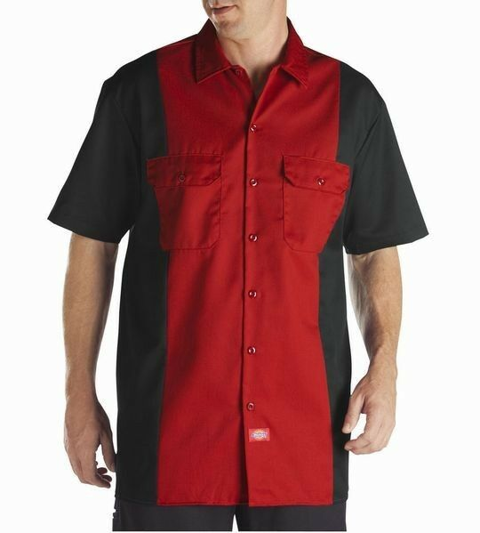 Dickies ws513 two tone mens work shirt ebay for Dickey shirts clothing co