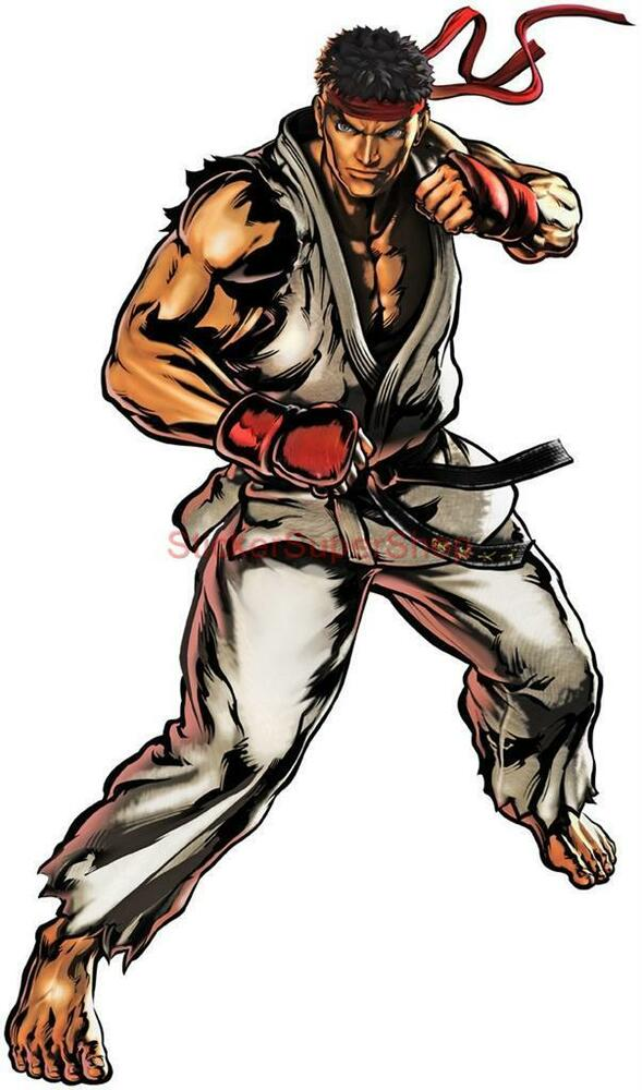 Choose Size Ryu Street Fighter Decal Removable Wall