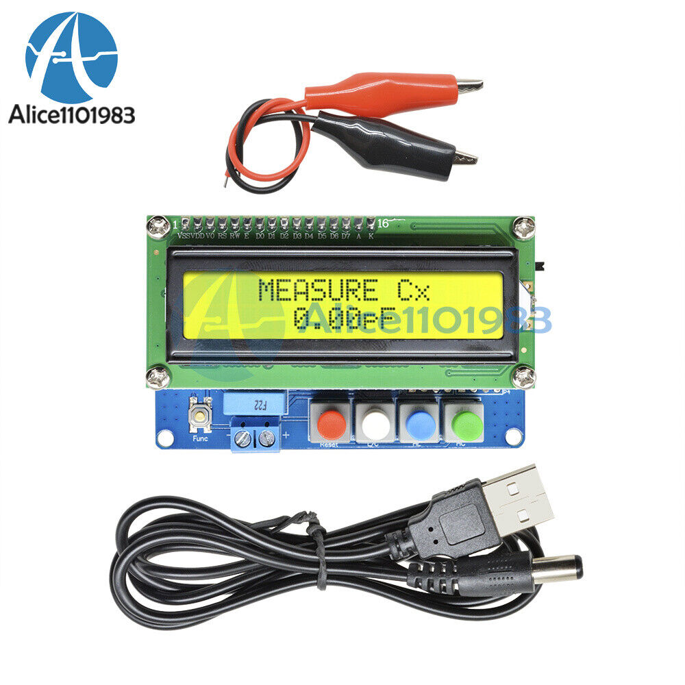 Digital Lc100 A Lcd High Precision Inductance Capacitance L C Meter Schematic Lc Tester Ebay