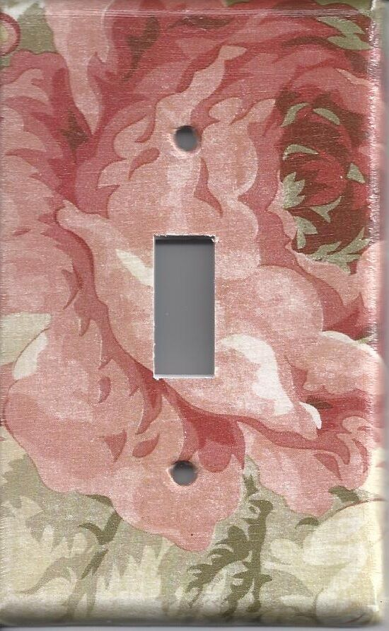 Light Switch Plate Outlet Covers GARDEN ROOM ROSE eBay