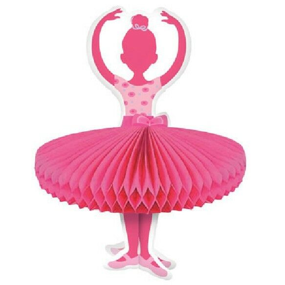 Pink girl tutu ballerina ballet birthday party table for Ballerina party decoration