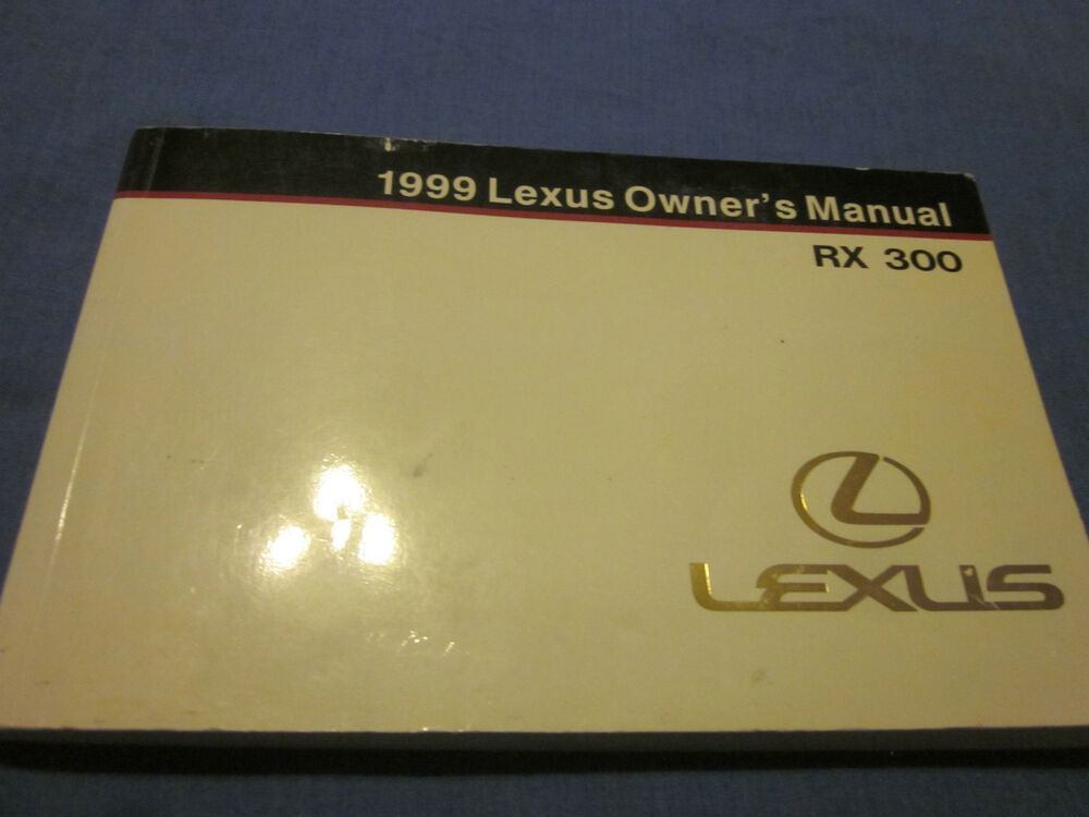 1999 Lexus Rx300 Owners Manual Download