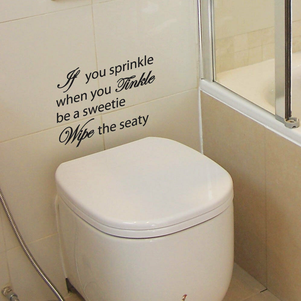 If You Sprinkle Bathroom Wall Quote Art Stickers Wall