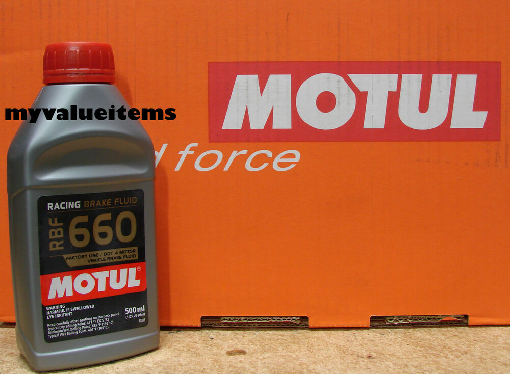 motul rbf 660 factory line dot 4 racing brake fluid 100 synthetic fluid 500 ml ebay. Black Bedroom Furniture Sets. Home Design Ideas