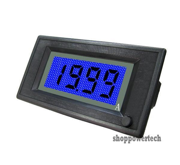 on off 20a dc blue digital display lcd solar panel ammeter. Black Bedroom Furniture Sets. Home Design Ideas