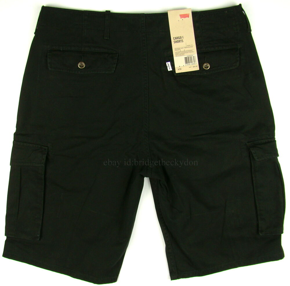 levis cargo shorts black mens levis many sizes ebay