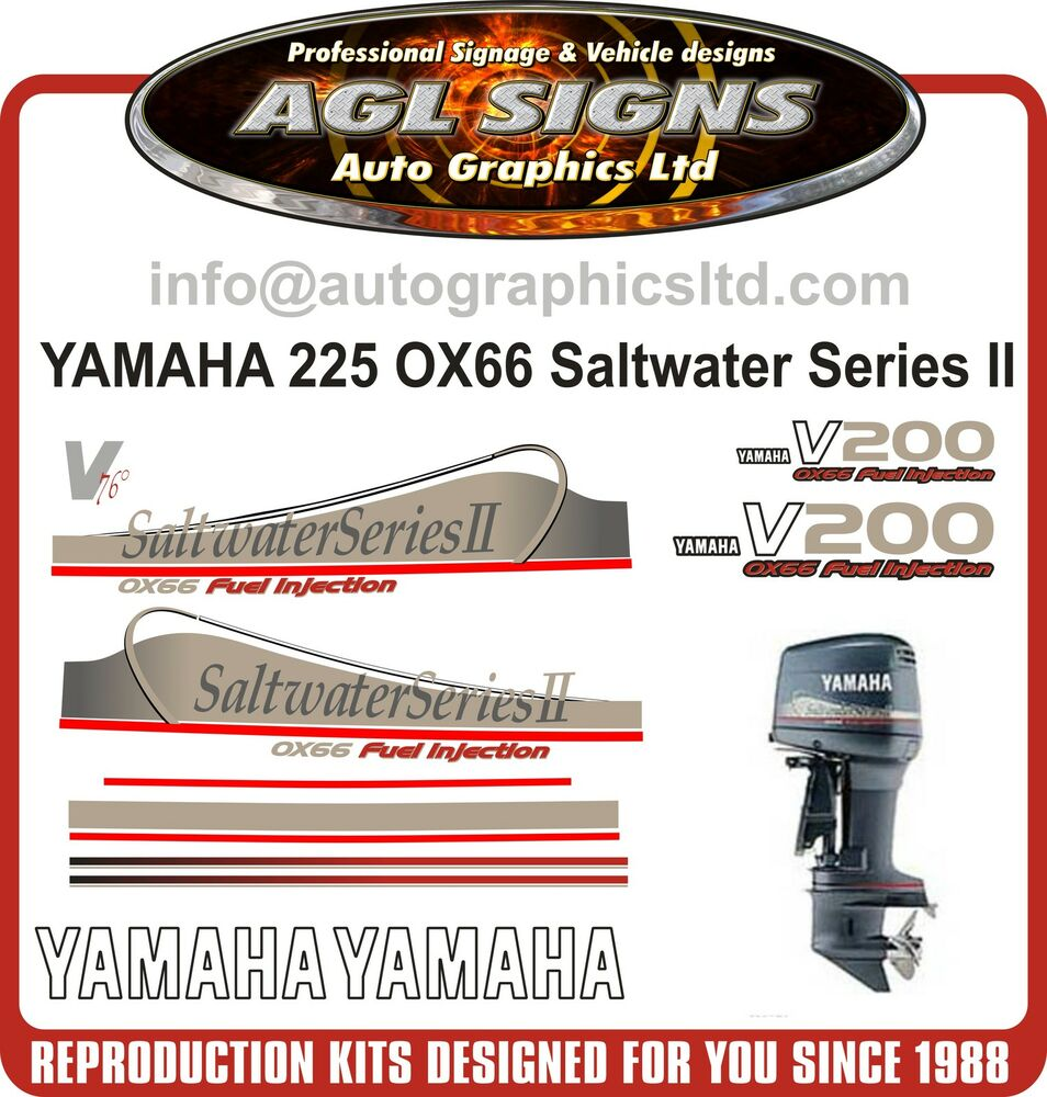 yamaha 200 ox66 v6 saltwater series ii outboard decals
