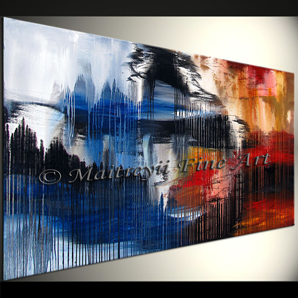 Details about original oil painting canvas framed abstract art modern paintings wall artwork