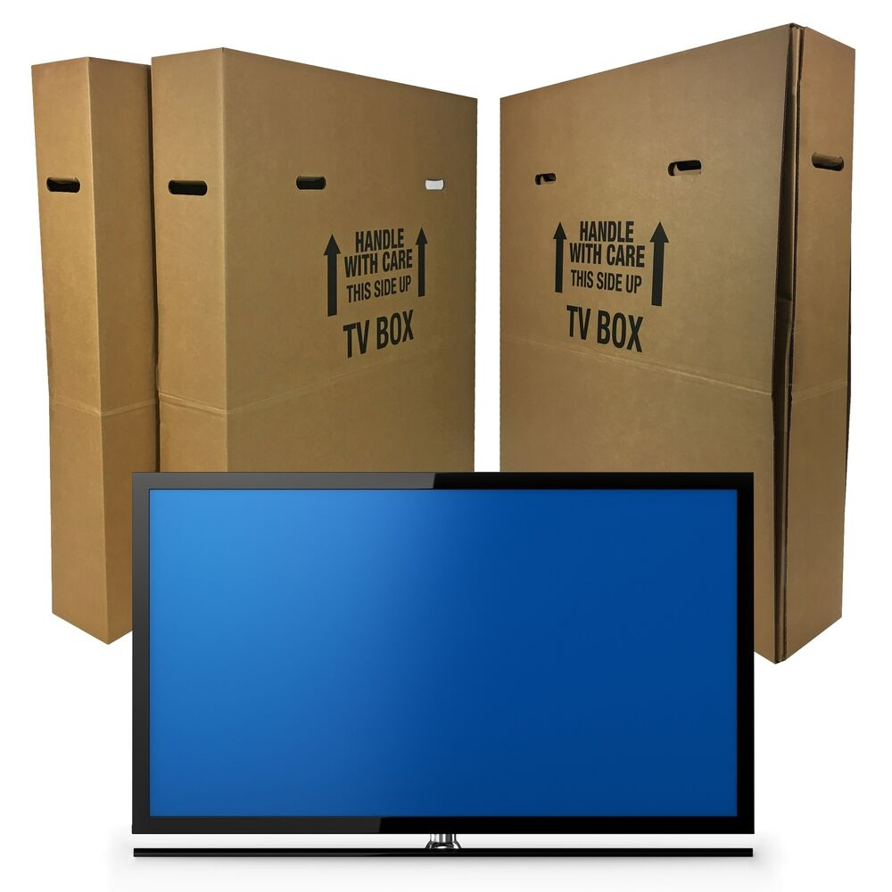 Tv Moving Box Fits Up To 60 Quot Plasma Lcd Or Led 4 Pieces