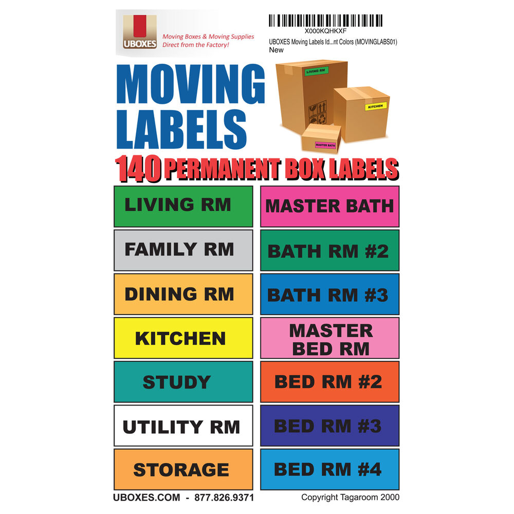 Moving Labels Identify Moving Box Contents 140 Labels 14