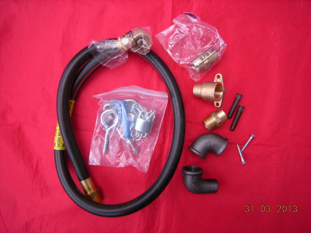 Natural Gas Cooker Hose Installation Kit