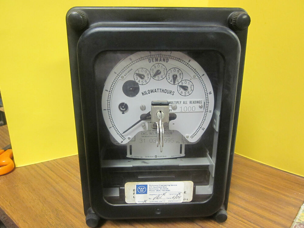 Electric Motor Hour Meters : General electric cat no g stator watthour