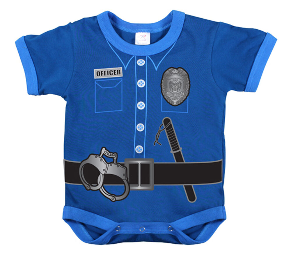 Police Uniform Infant Baby Newborn One Piece Romper