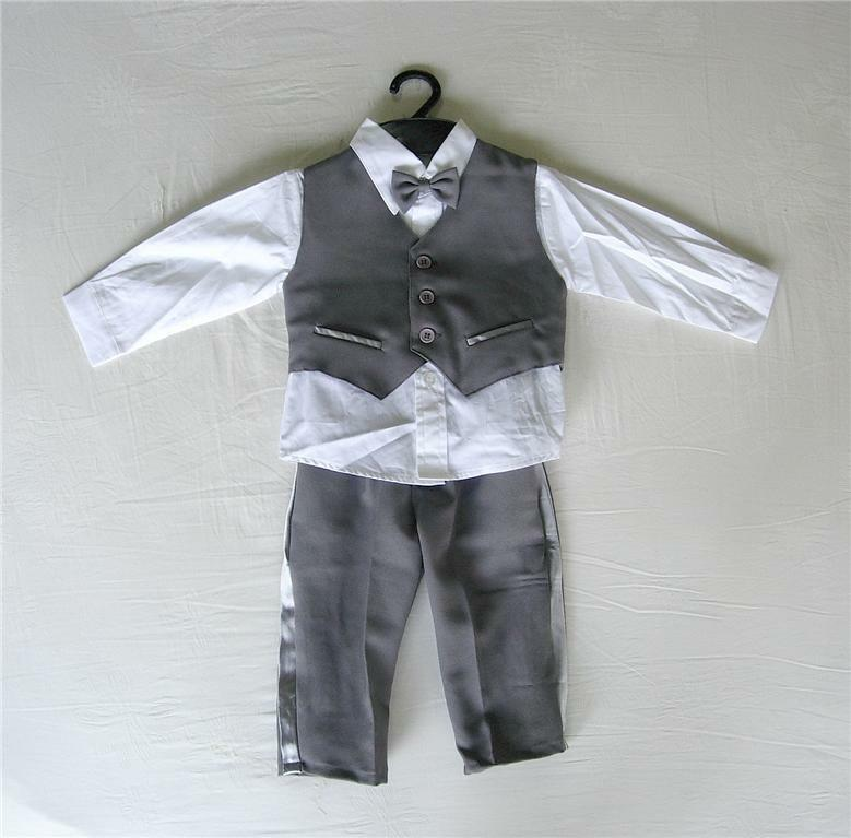 Baby boys' suits are perfect for formal occasions and make your guy look like a little man. These suits are available in two pieces or as onesies. Two-piece suits .