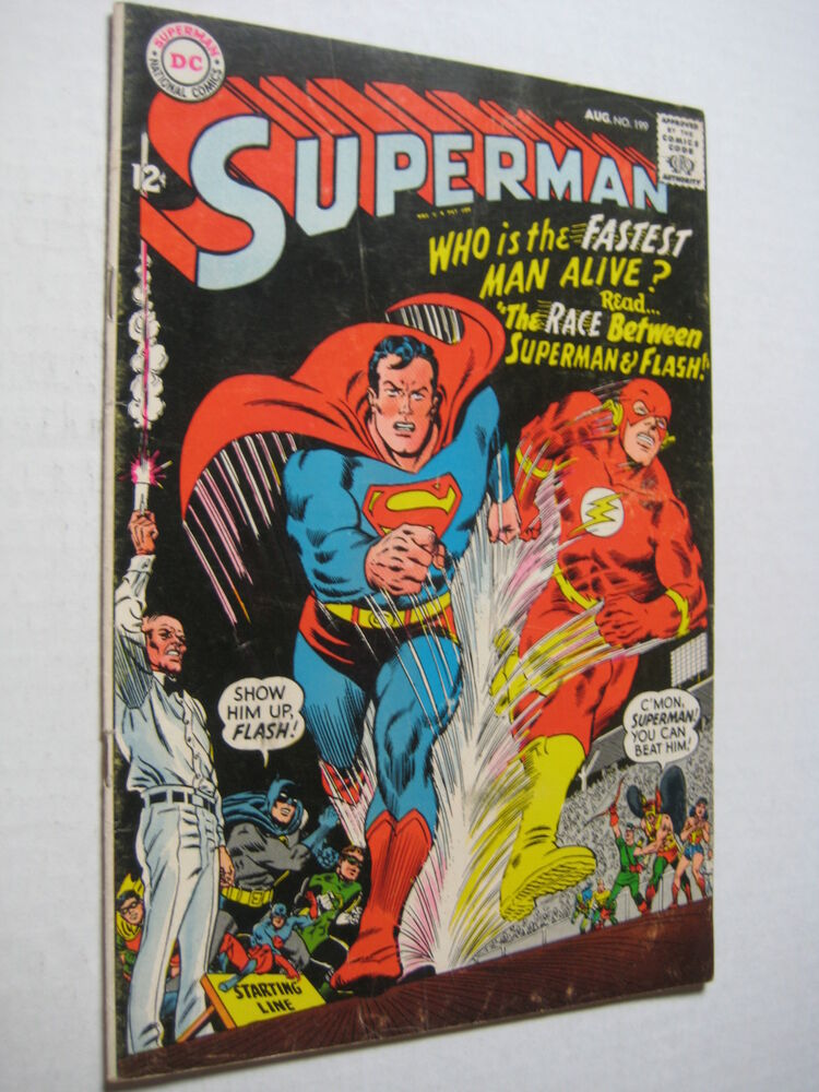 Vintage Old Collectible DC Comic Superman 199 FN | eBay