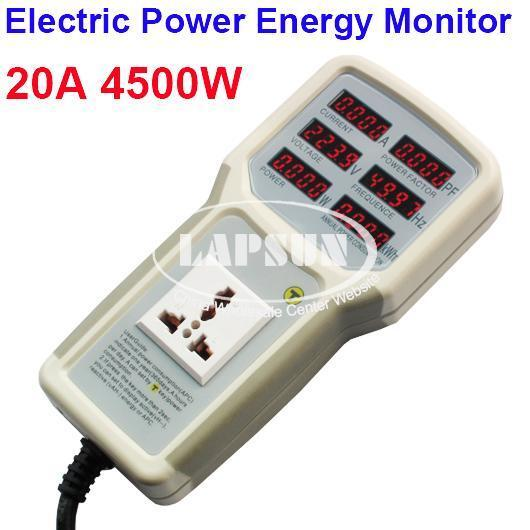 Outlet Wattage Meter : Electric power energy monitor tester outlet socket watt