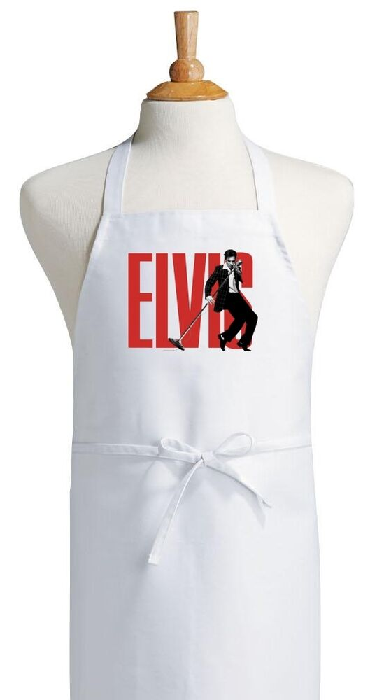 Vintage elvis presley cooking aprons elvis chef aprons for for Apron designs and kitchen apron styles